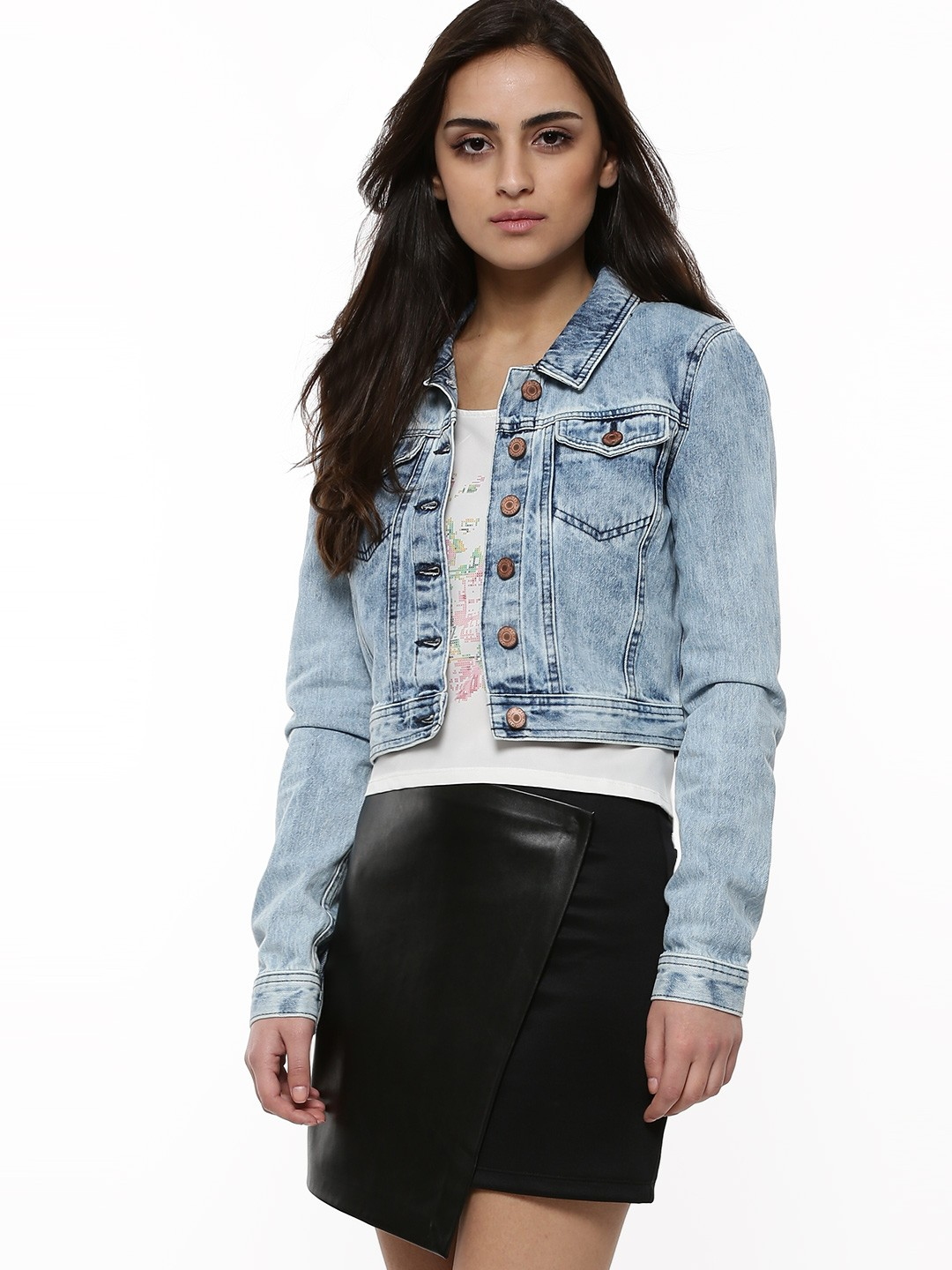 Buy VERO MODA Denim Jacket For Women - Women's Blue Jackets Online ...