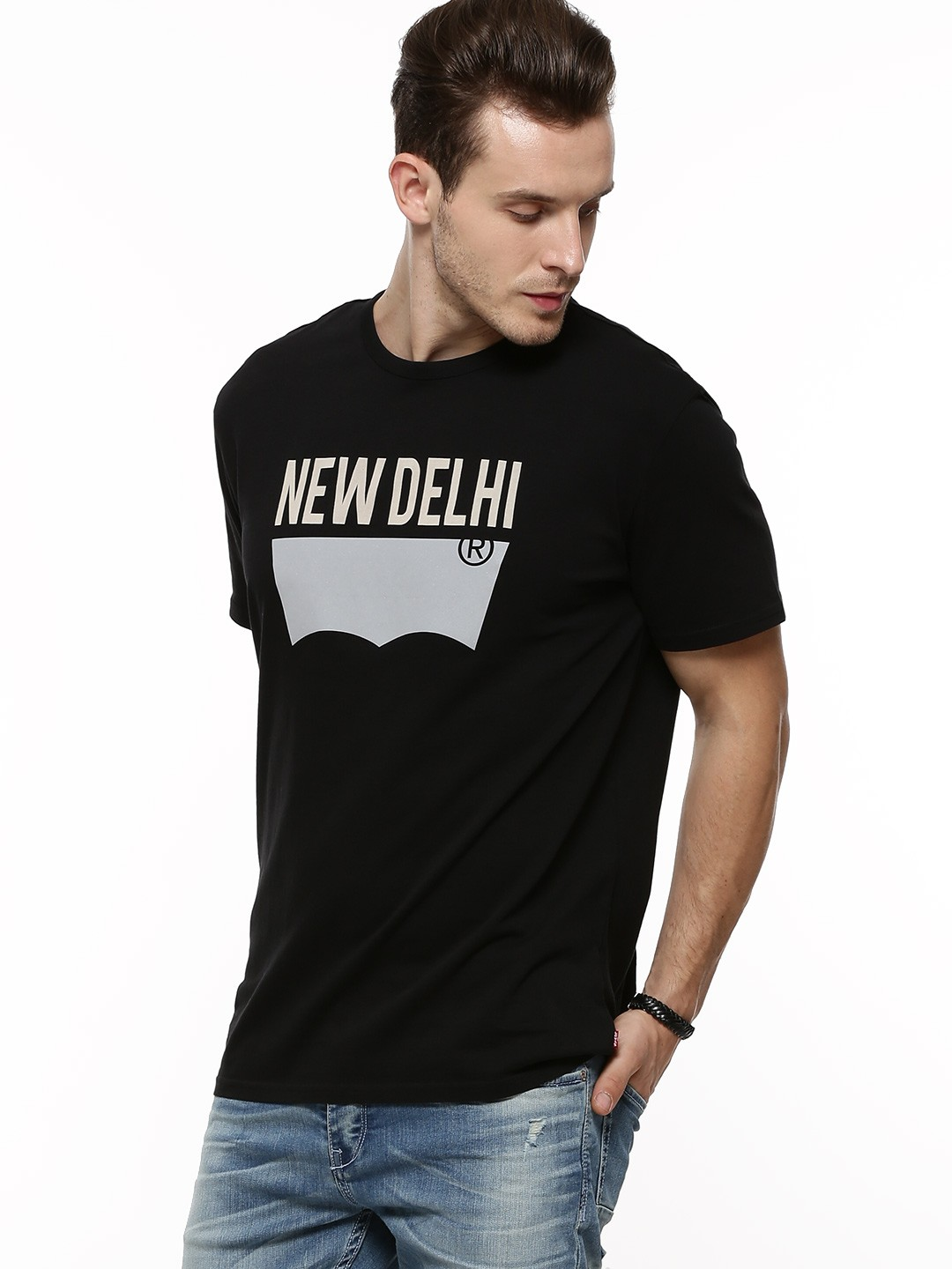 buy levi 39 s batwing logo 39 delhi 39 t shirt for men men 39 s. Black Bedroom Furniture Sets. Home Design Ideas