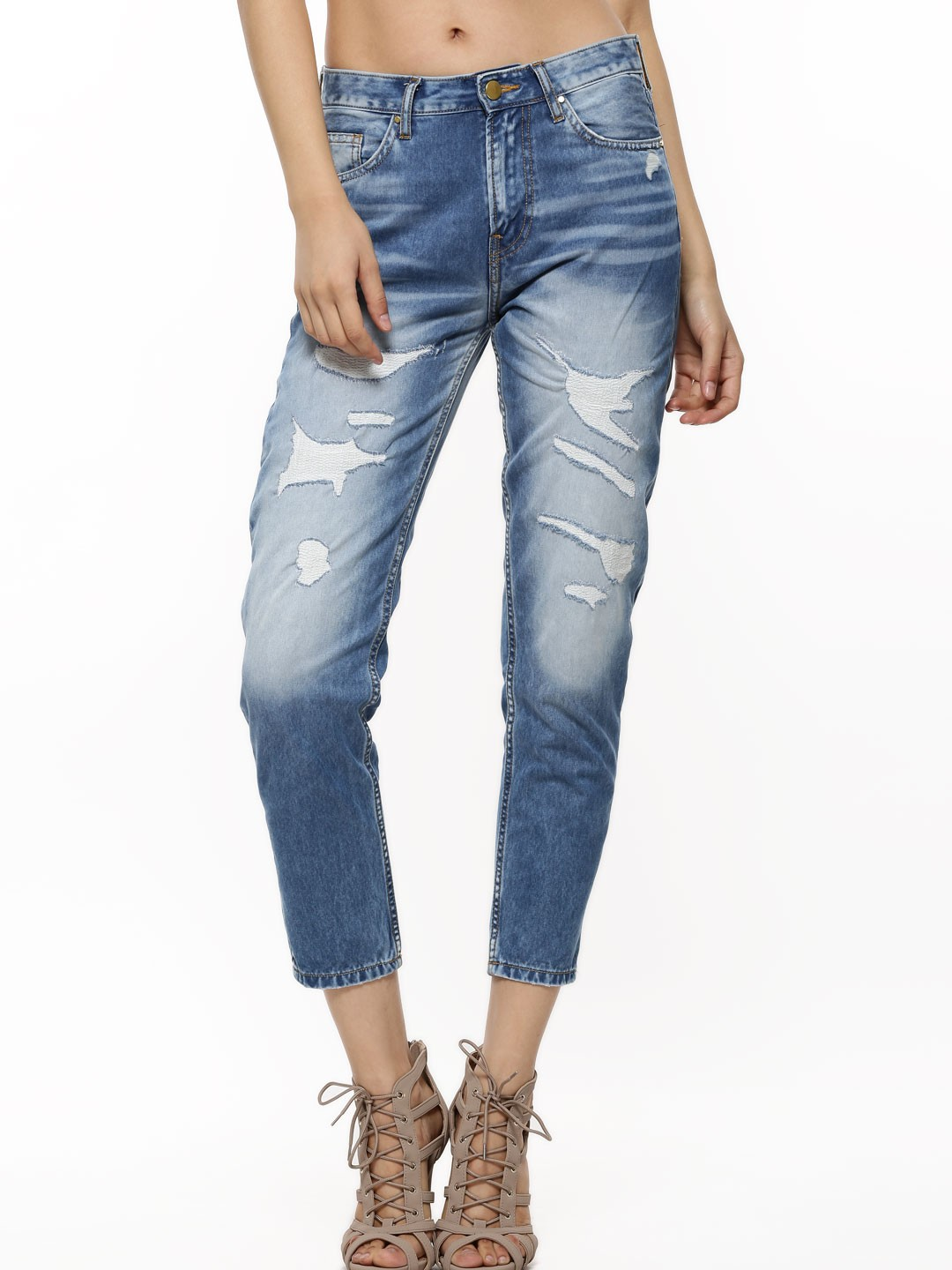 Buy VOI JEANS Ripped Jeans For Women - Women's Blue Ripped Jeans ...