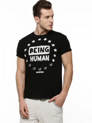 Buy being human printed front crew neck t shirt for men for Being human t shirts buy online india