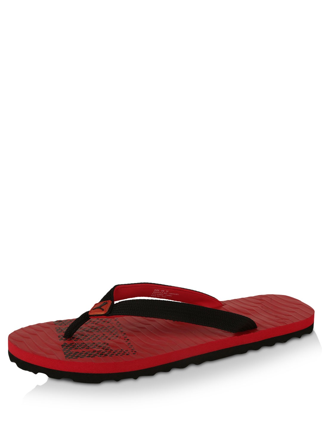 buy puma textured flip flops for men men 39 s red flip. Black Bedroom Furniture Sets. Home Design Ideas