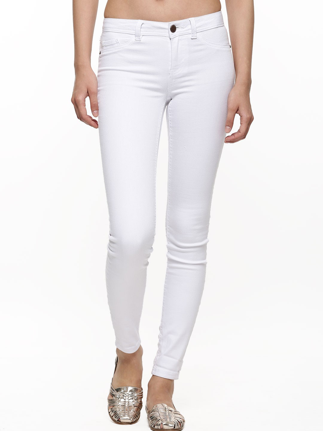Buy NEW LOOK Super Skinny Denim Jeans For Women - Women's White ...