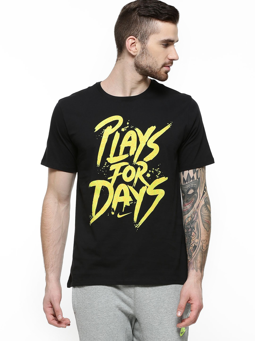 Buy nike plays for days printed t shirt for men men 39 s for Printed t shirts india