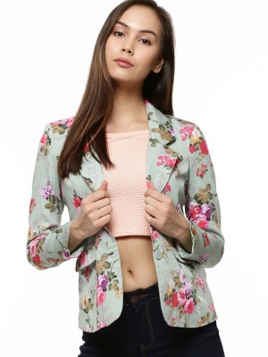 Floral Blazers Womens