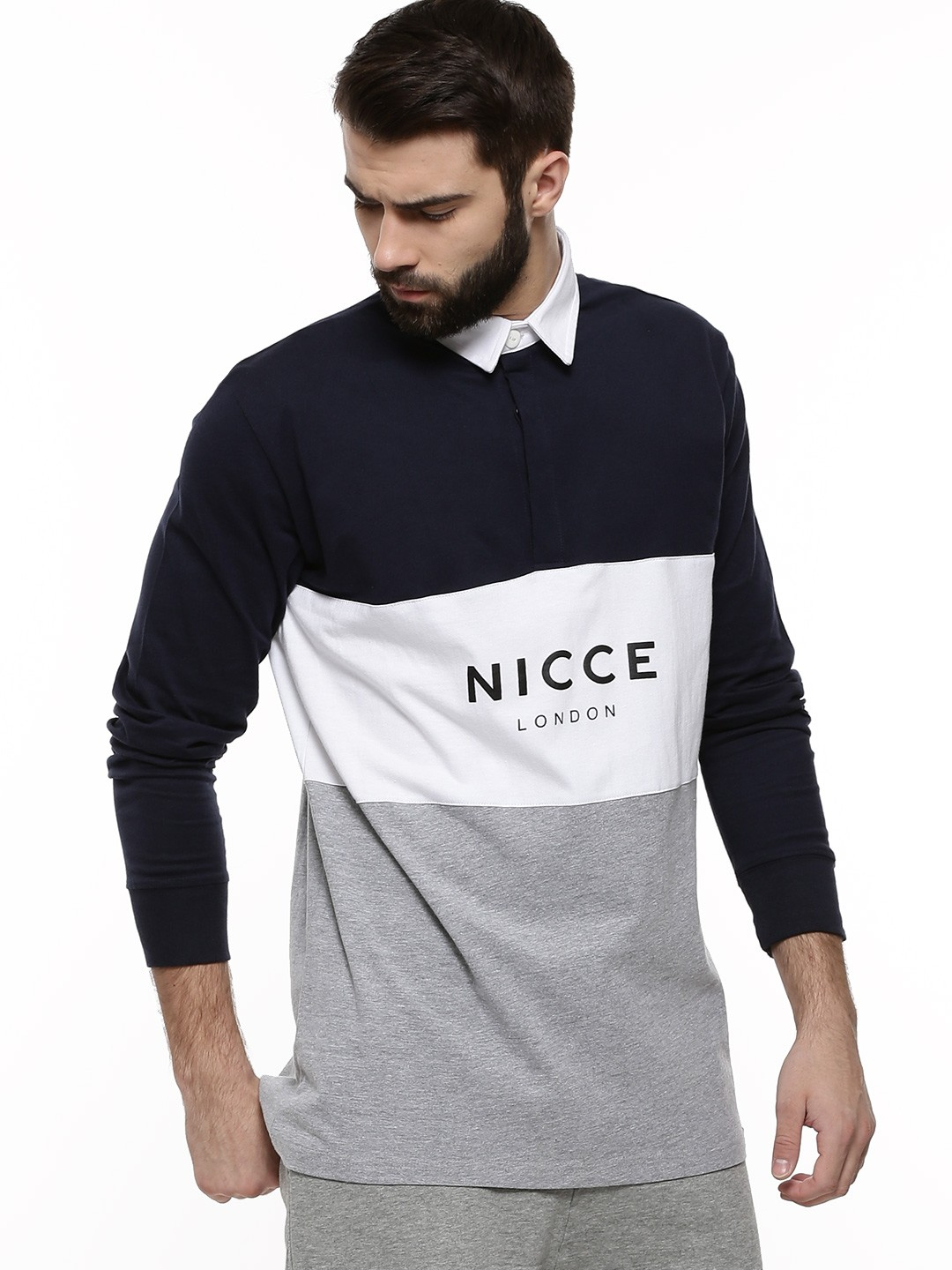 Buy Nicce Triple Panel Rugby Polo Shirt For Men Men 39 S