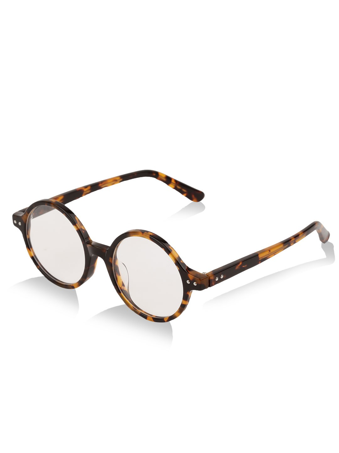Buy Voi Jeans Tortoise Shell Clear Lens Round Glasses For