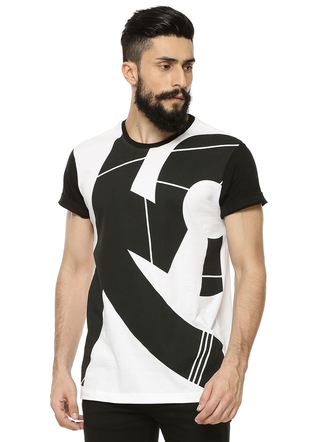 Buy KOOVS Number Printed T-shirt For Men - Men's White T-shirts ...