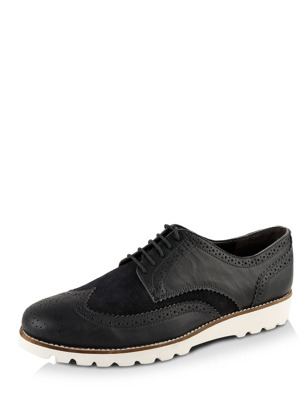 suede leather brogues Rounded, well-fitting lines add to the distinctive design of this suede leather brogue. The shoe features a padded heel counter, an EVA .