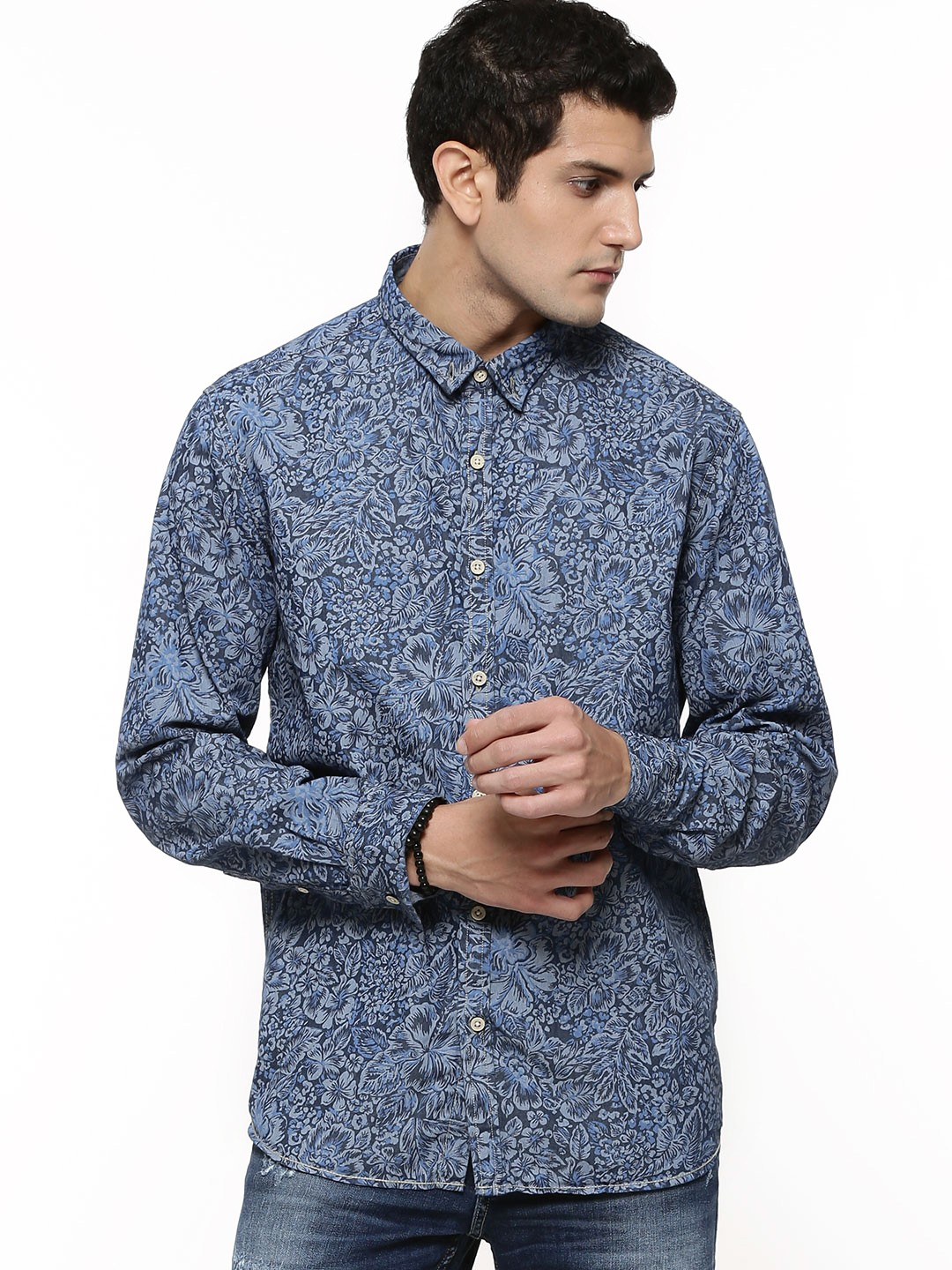Buy FLYING MACHINE All Over Printed Button Down Shirt For ...
