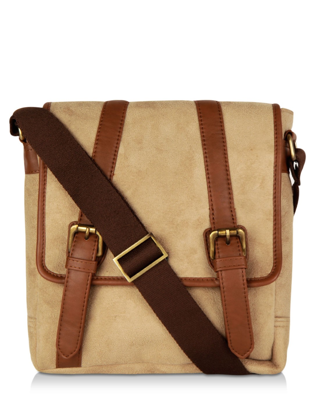 Buy ATORSE Sling Bag For Men - Men's Brown/White/Off-White Sling ...