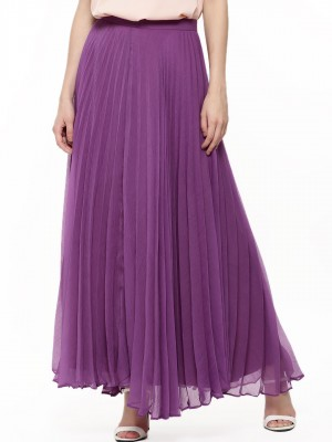 Buy NOBLE FAITH Pleated Maxi Skirt For Women - Women's Purple ...