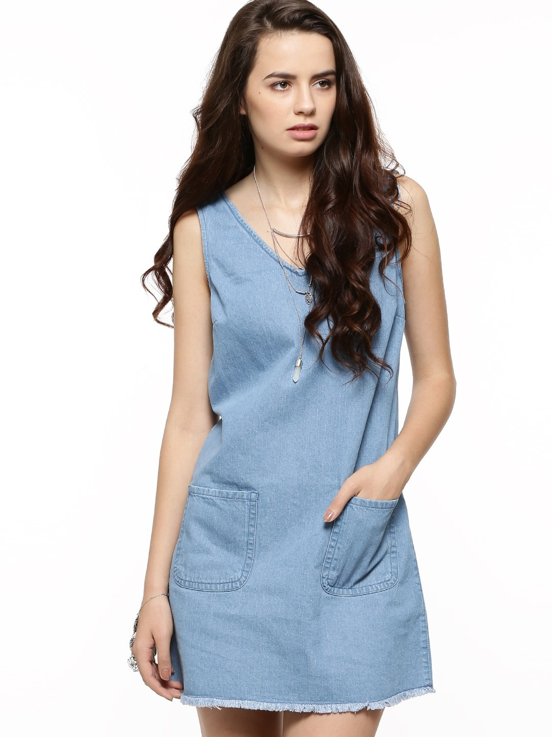 Buy NEW LOOK Patch Pocket Denim Tunic For Women