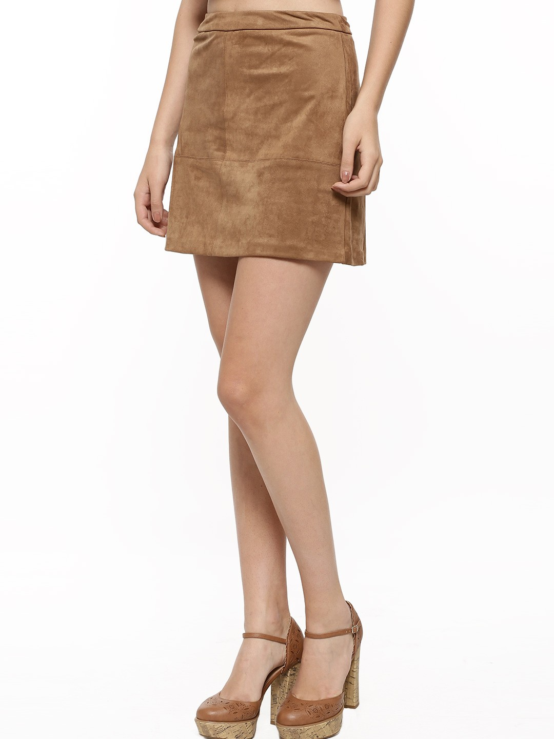 Buy NEW LOOK Suedette A-line Skirt For Women - Women's Brown Mini ...