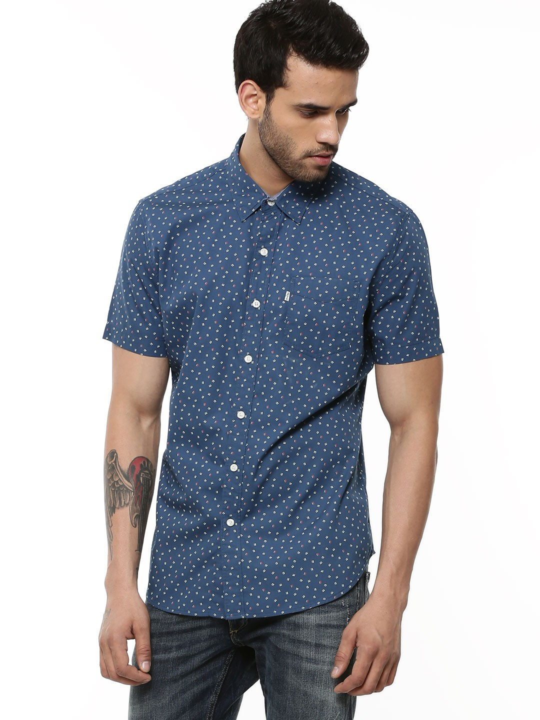 Buy levi 39 s all over printed shirt in short sleeve for men for Levi s short sleeve shirt