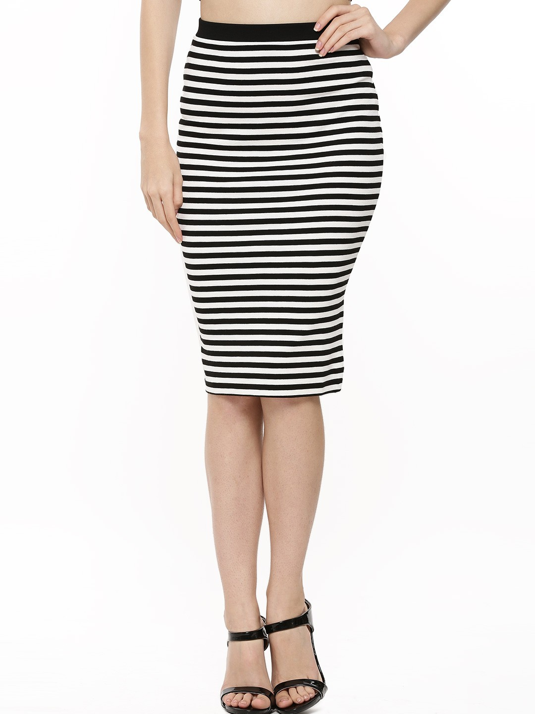 Buy LIPSY Stripe Pencil Skirt For Women - Women's Black/White ...