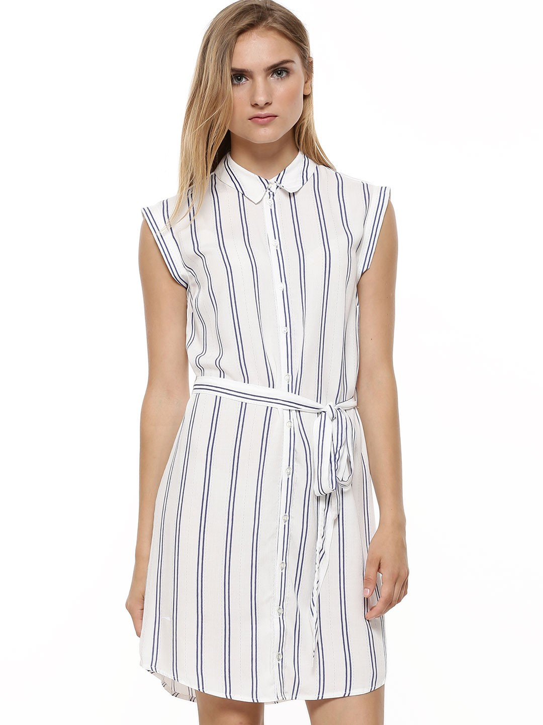 Buy new look stripe sleeveless shirt dress for women for Where to buy a dress shirt