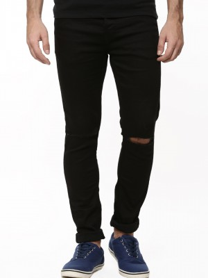Buy ONLY & SONS Slim Fit Ripped Knee Jeans For Men - Men's Black ...