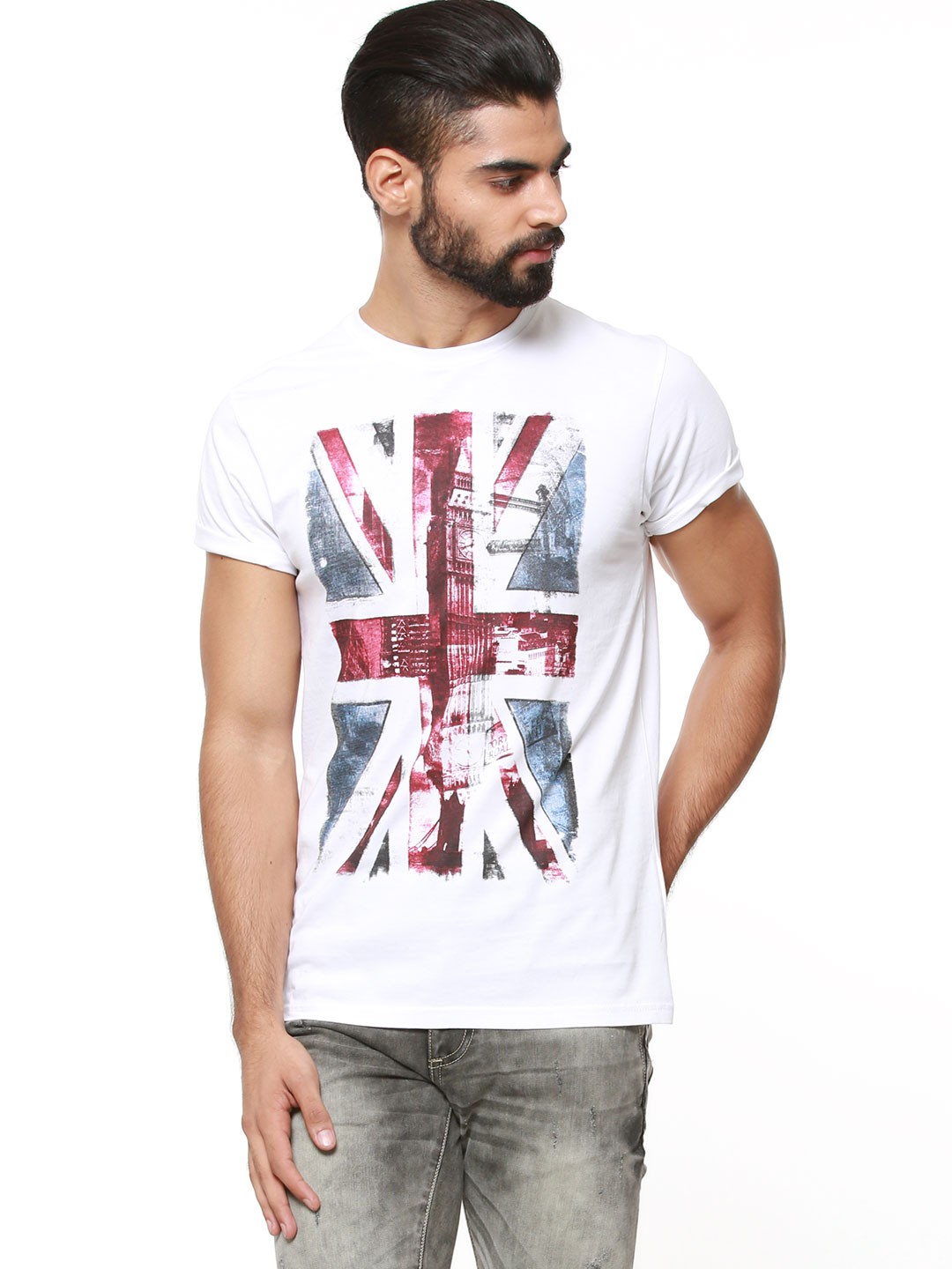 buy pepe jeans iconic flag print t shirt for men men 39 s. Black Bedroom Furniture Sets. Home Design Ideas