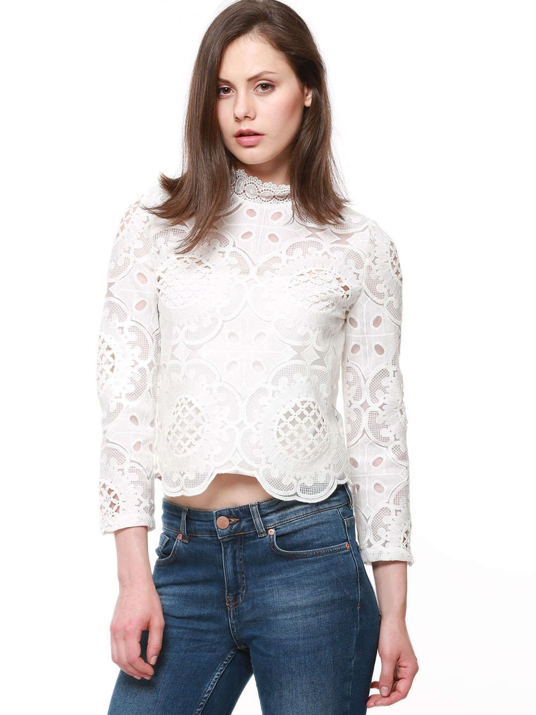 1bc9acf908e Buy Lace Crop Tops Online India