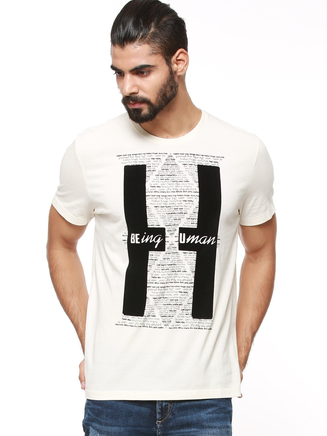 Buy being human graphic printed t shirt for men men 39 s for Being human t shirts buy online india