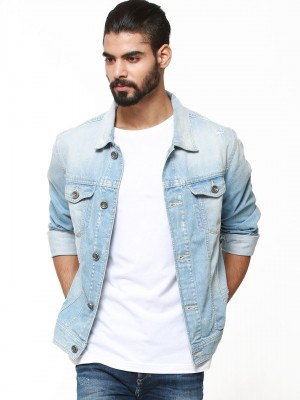 Buy VOI JEANS Light Wash Denim Jacket For Men - Men&39s Light Blue