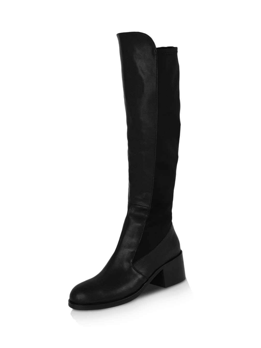 Buy AQ Knee Length Boots For Women - Women's Black Boots Online in ...