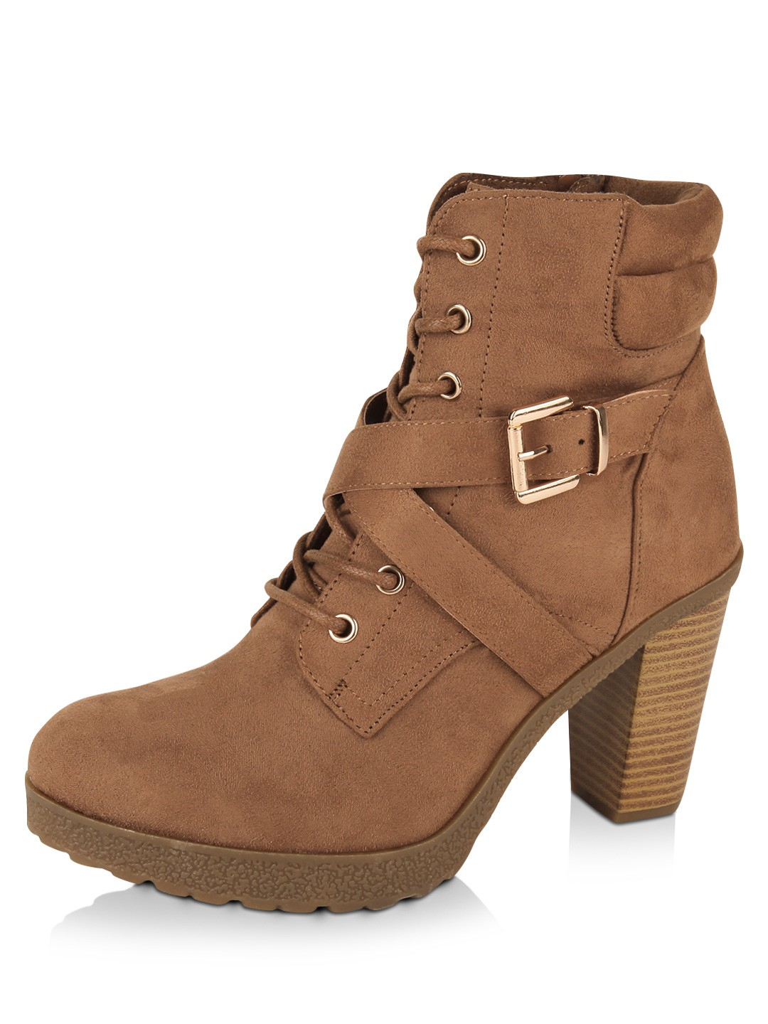 Beautiful Buy ILO AnkleLength Tan Boots For Women Online India Best Prices