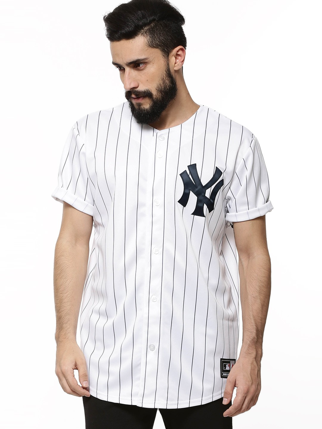 Buy majestic official licensed ny yankees baseball jersey for Baseball jersey t shirt custom