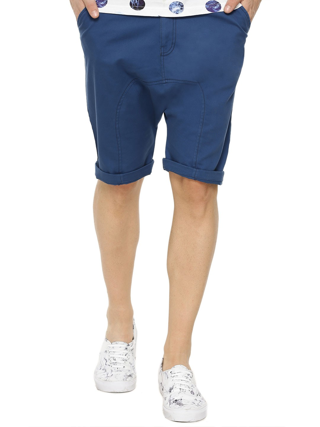 Buy KOOVS Chino Shorts For Men - Men's Blue Shorts Online in India