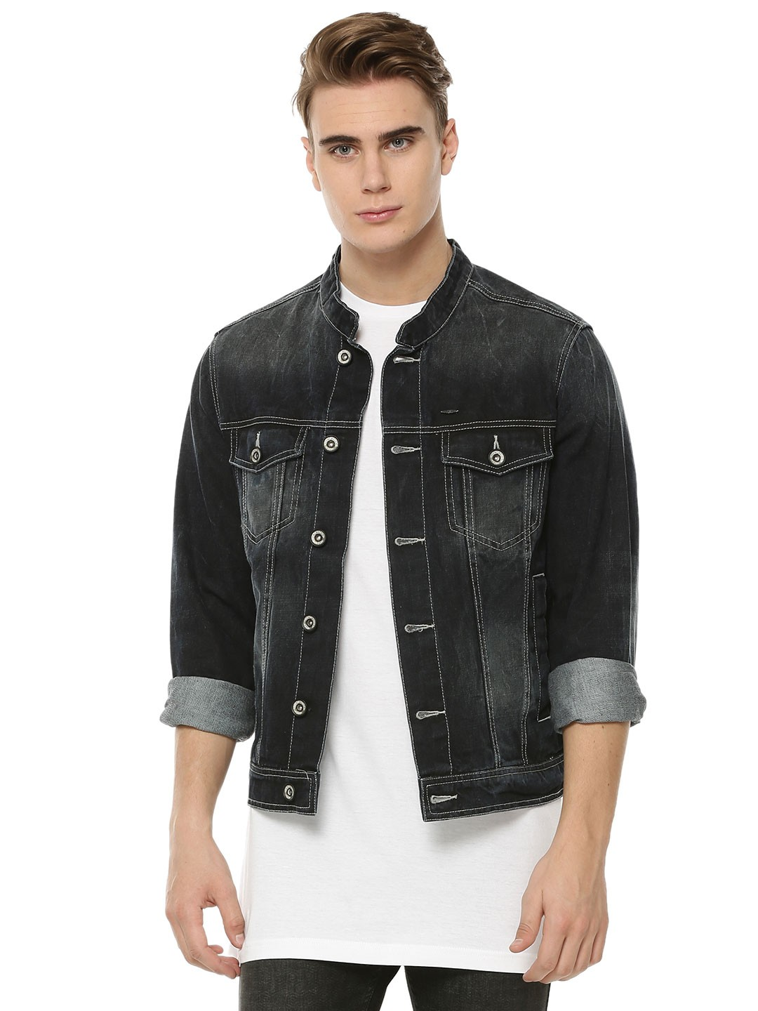Buy FLYING MACHINE Panelled Denim Jacket For Men - Men&39s Blue