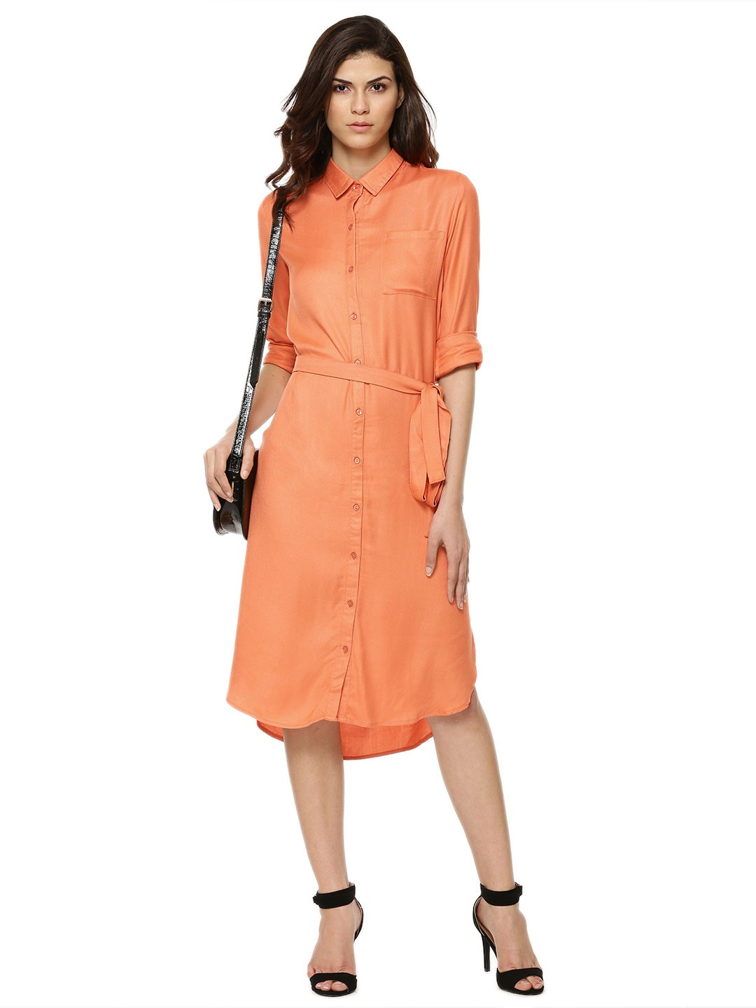buy femella long shirt dress for women women 39 s pink