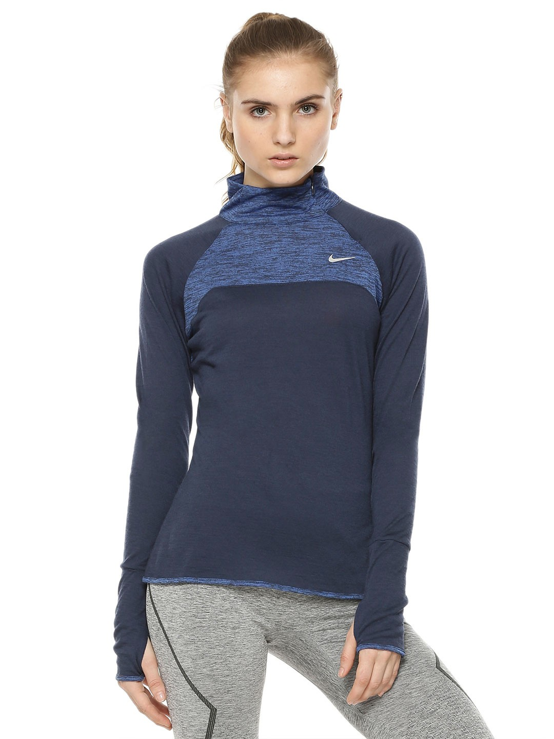 Buy NIKE As Wool Ls Half Zip Top For Women