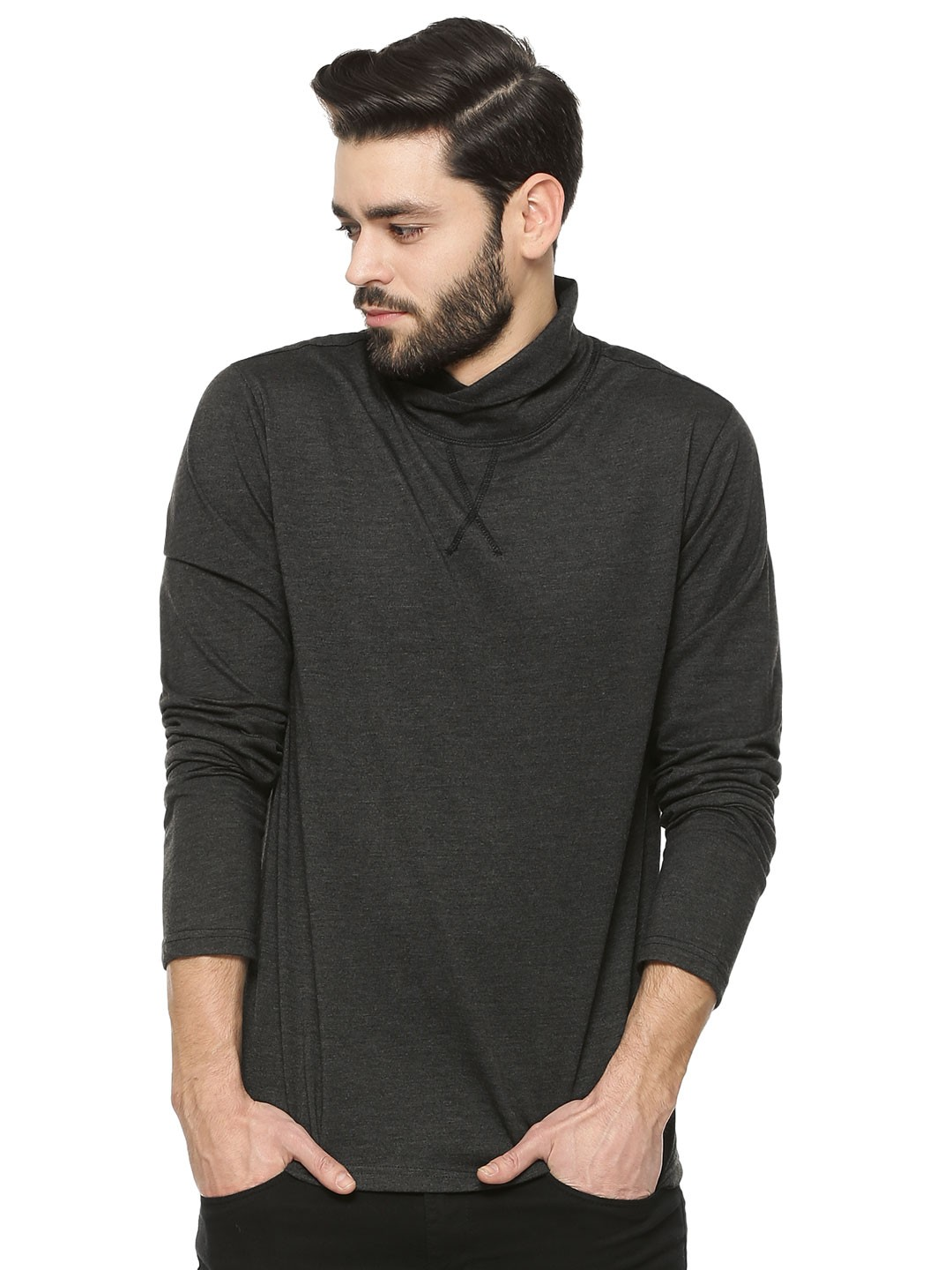 Buy atorse turtleneck t shirt for men men 39 s multi t for Turtleneck under t shirt