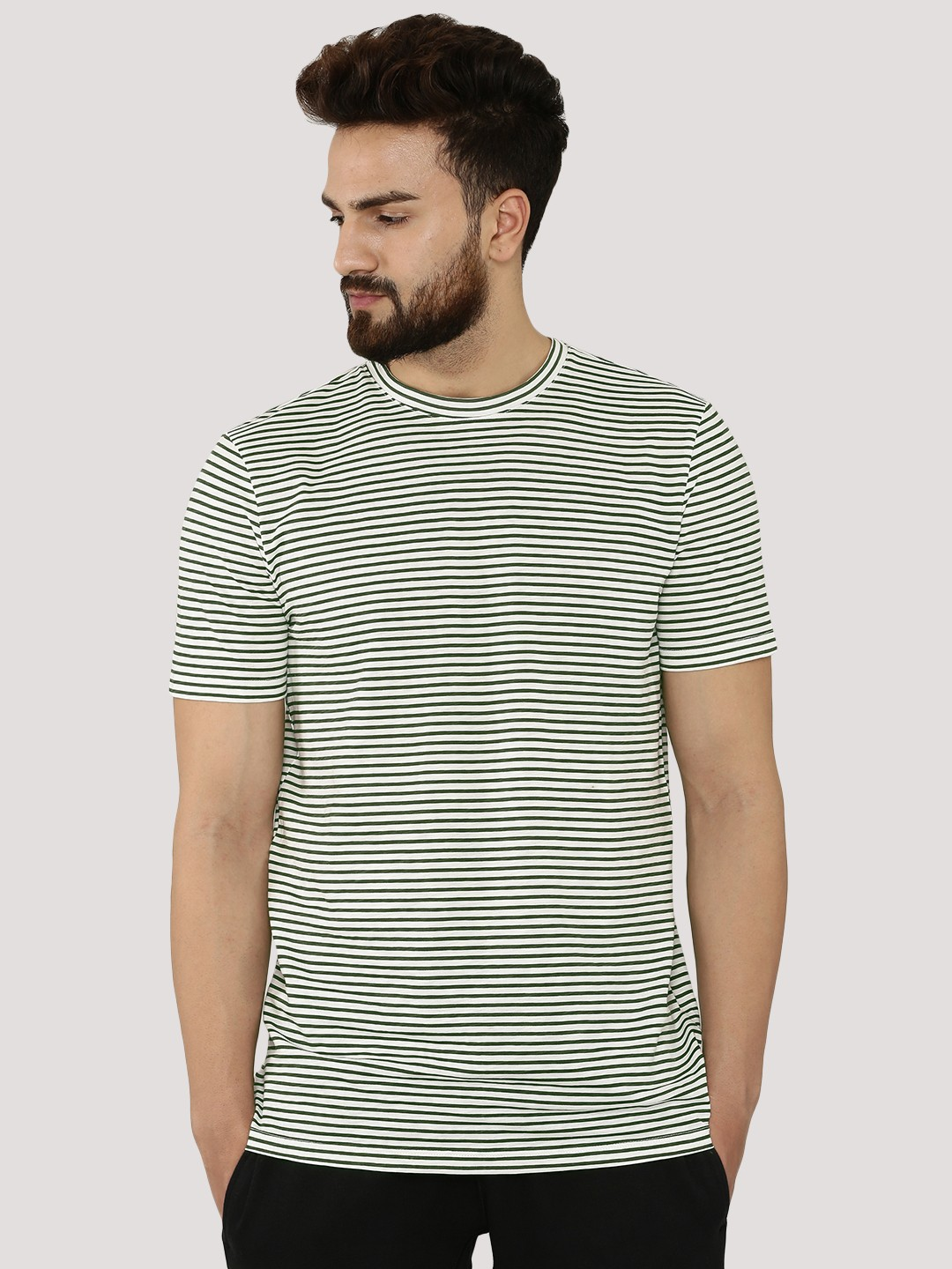 Buy NEW LOOK Striped T-shirt For Men - Men's Multi T-shirts Online ...