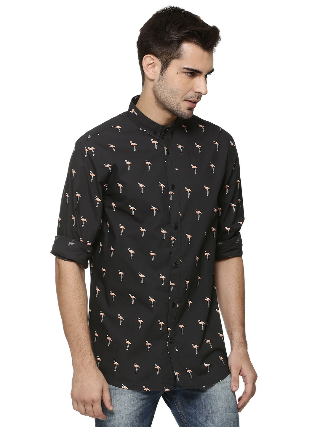 Buy Koovs Flamingo Print Shirt For Men Men 39 S Multi