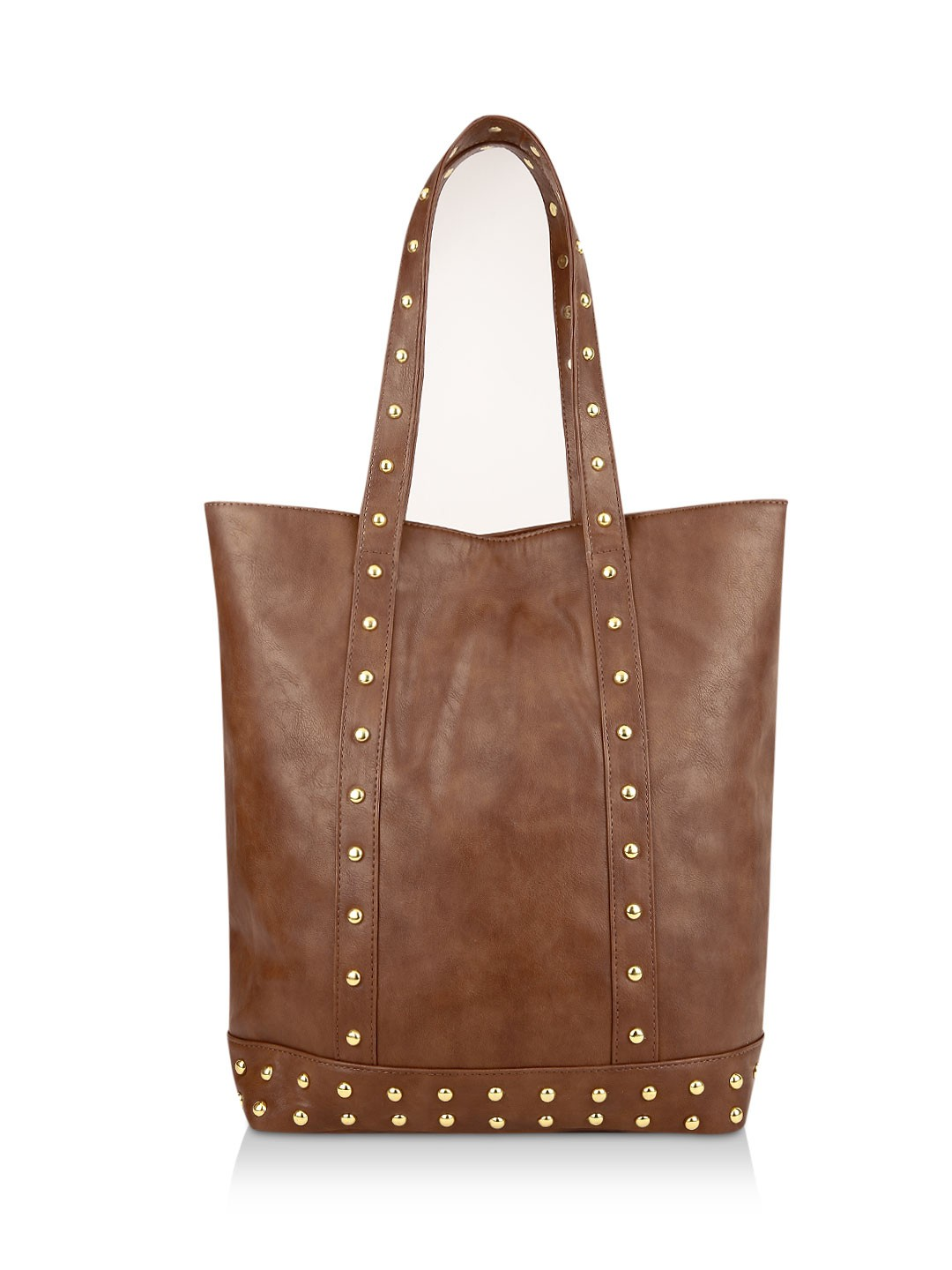 Buy PARIS BELLE Studded Tote Bag For Women - Women's Brown Tote ...