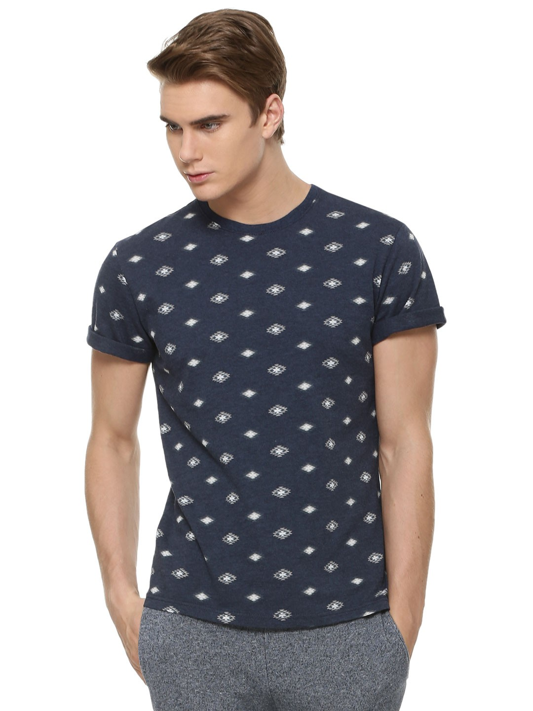 Buy zobello printed summer t shirt for men men 39 s blue t for Printed t shirts india