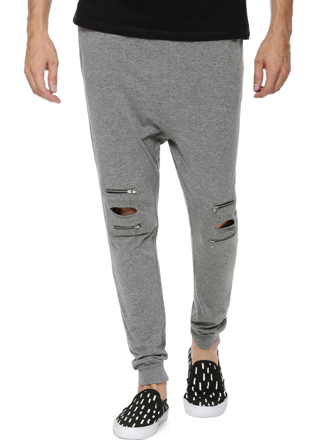 Spring Break Knee Cut Joggers With Zip Price In India On