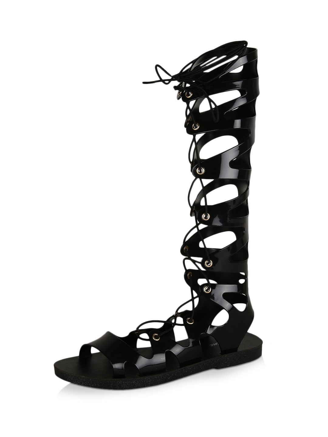 Buy No Doubt Jelly Knee High Gladiator Sandals For Women