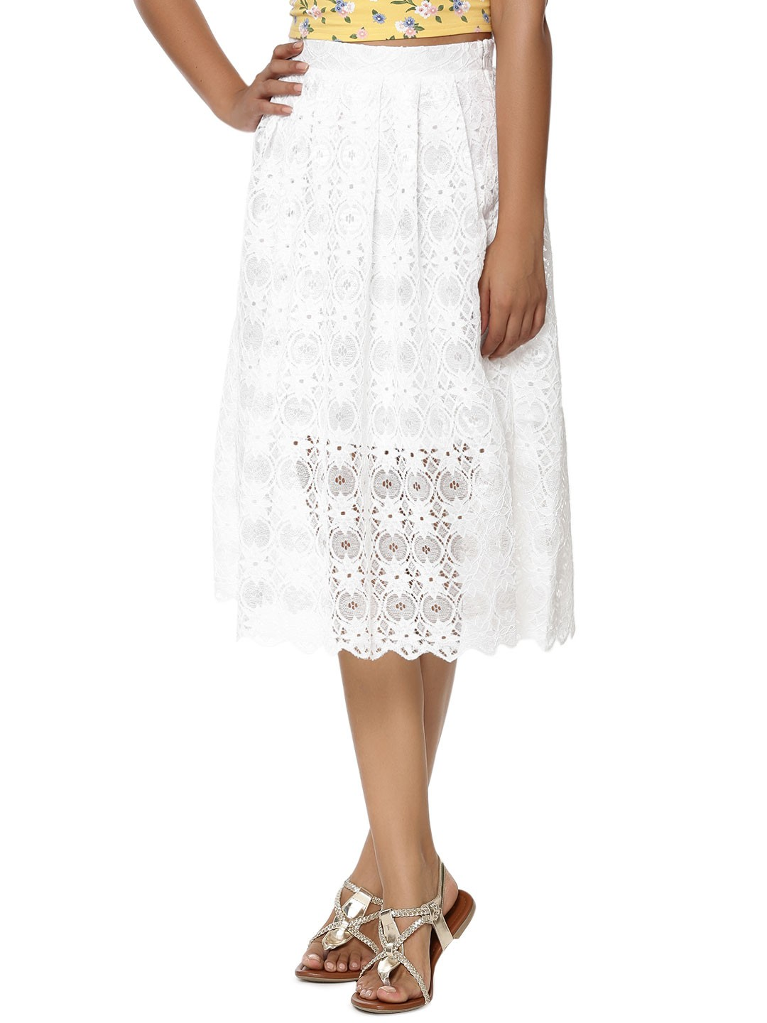 buy new look ec lace balloon midi skirt for