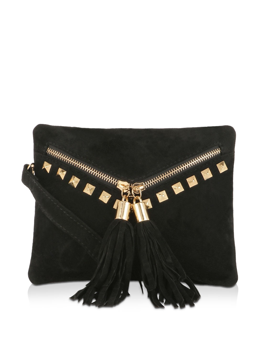 Buy KOOVS Studded Envelope Sling Bag For Women - Women's Black ...