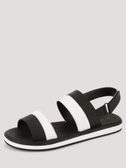 GRIFFIN  Leather Sandals With Dual Tone Straps