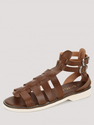 GRIFFIN  Leather Gladiator Sandals