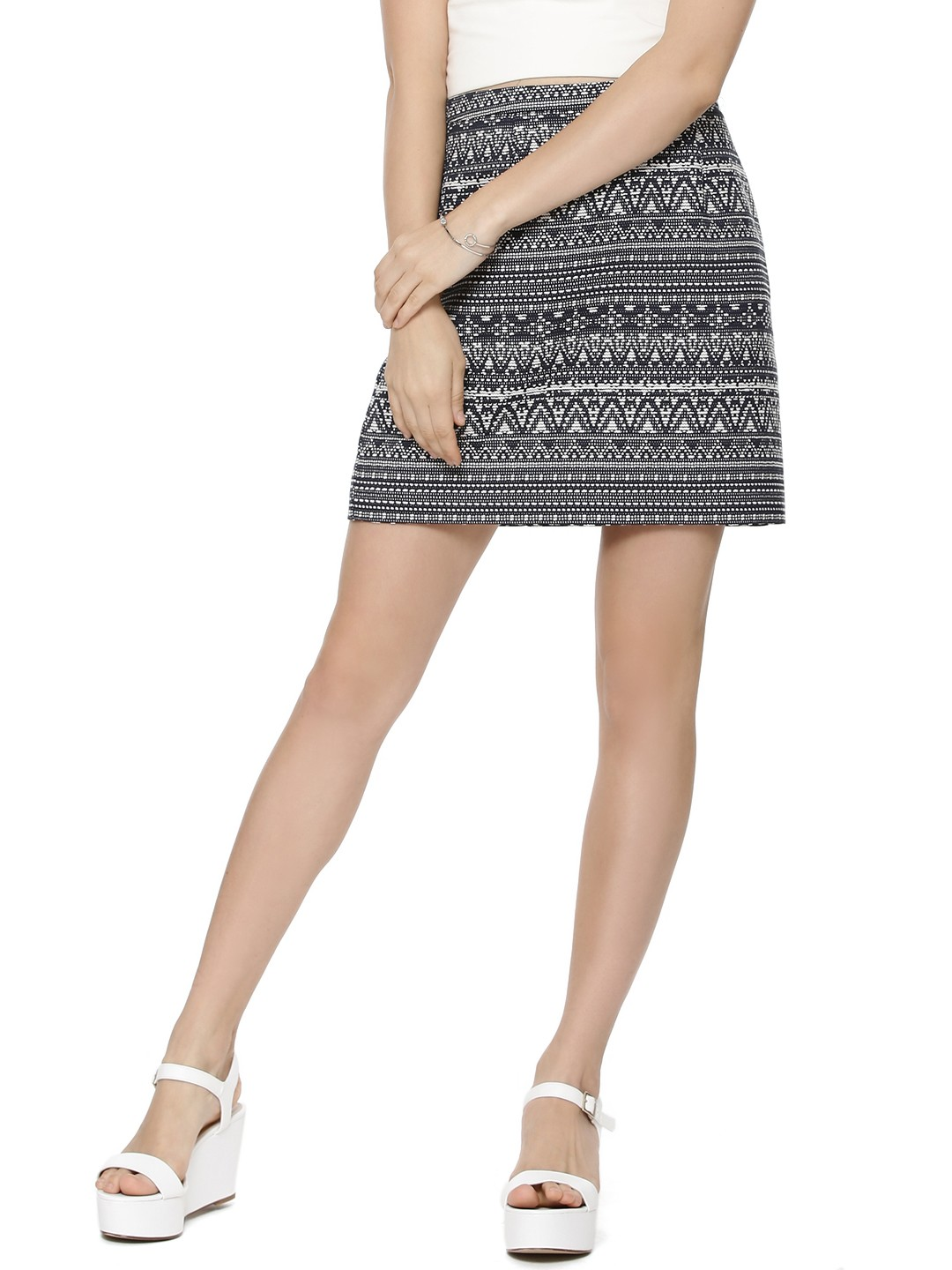 Buy FOREVER NEW Jacquard Mini Skirt For Women - Women's Blue Mini ...