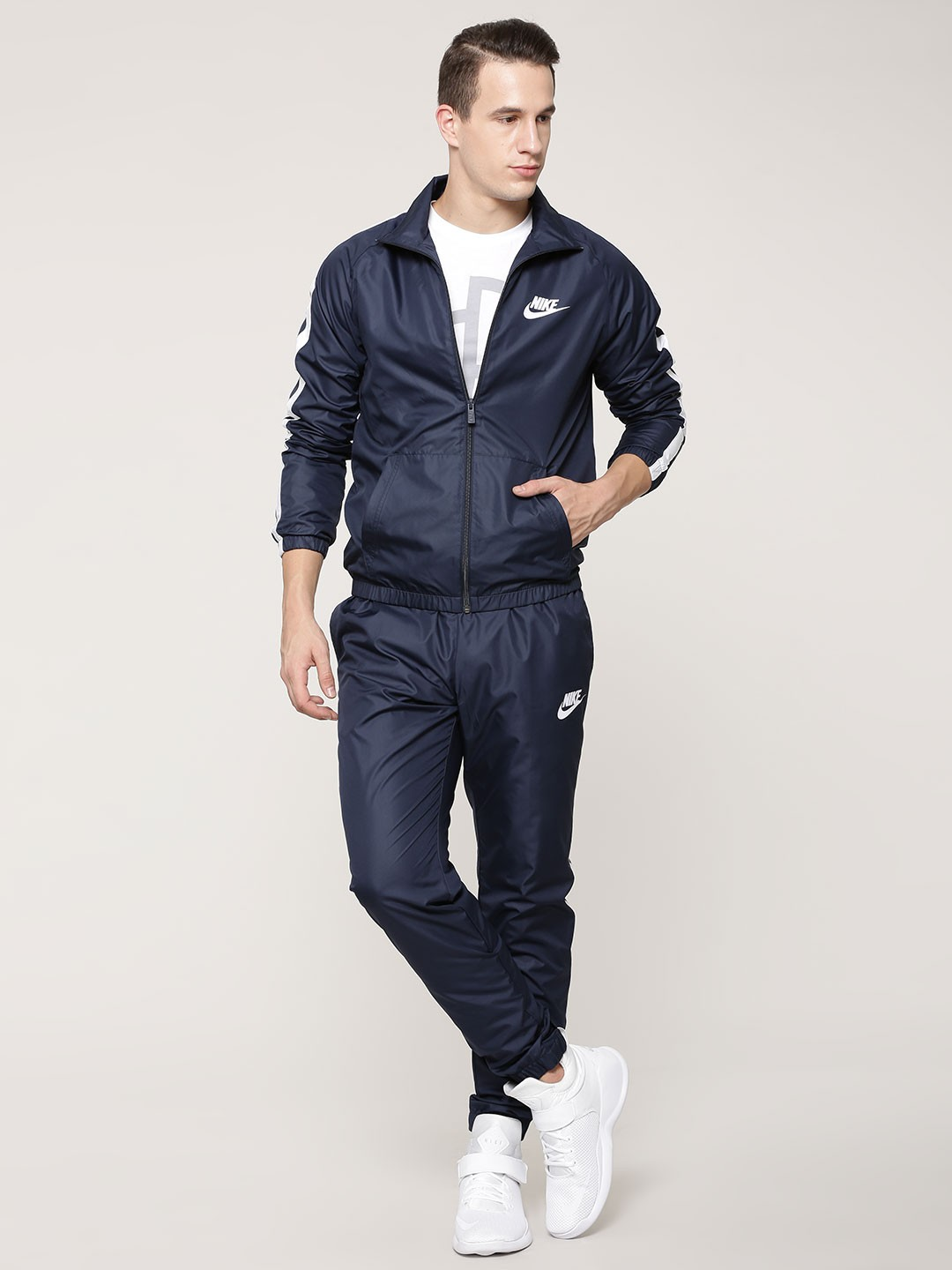 Mens AR Happy Time Blue Tracksuit Set Free shipping