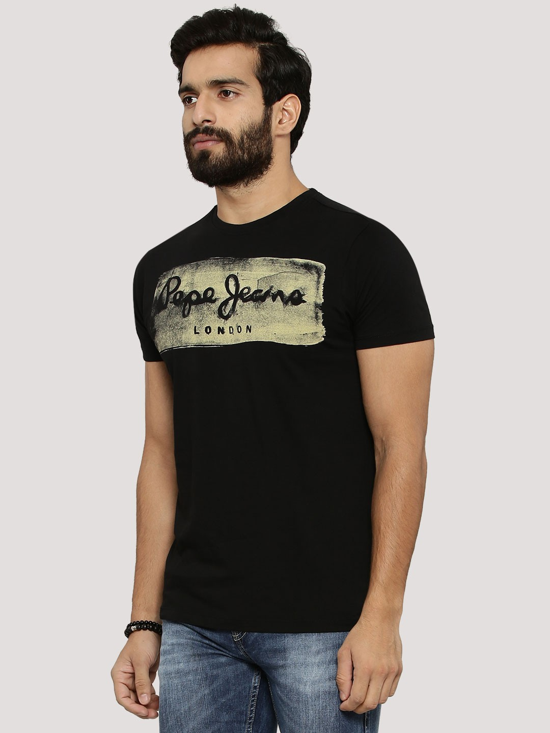 Buy Pepe Jeans Vintage Print T Shirt For Men Men 39 S Black