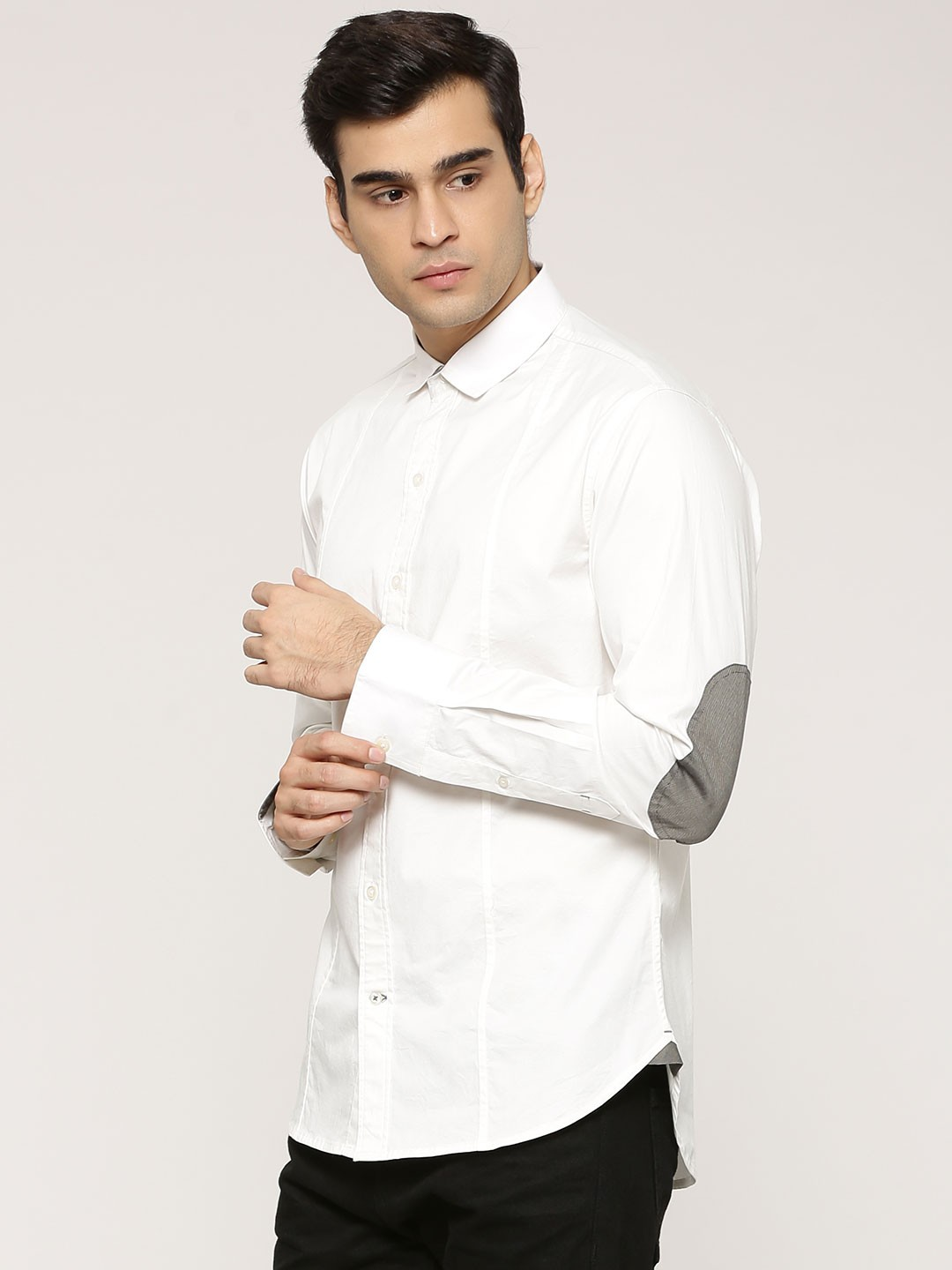 Buy zobello shirt with elbow patch for men men 39 s off for Buy men shirts online