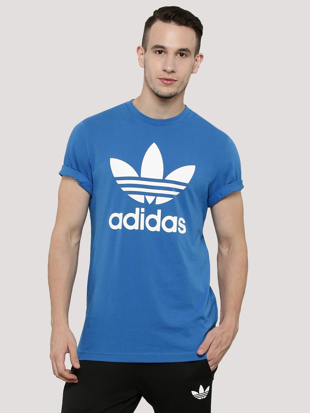 buy adidas originals t shirt with trefoil logo for men. Black Bedroom Furniture Sets. Home Design Ideas