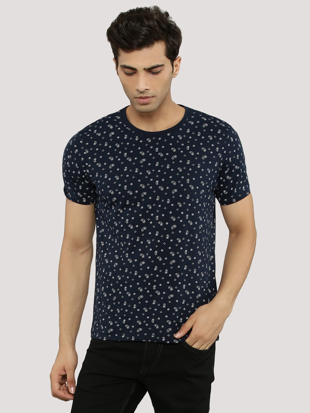 Buy flying machine paisley printed t shirt for men men 39 s for Printed t shirts india
