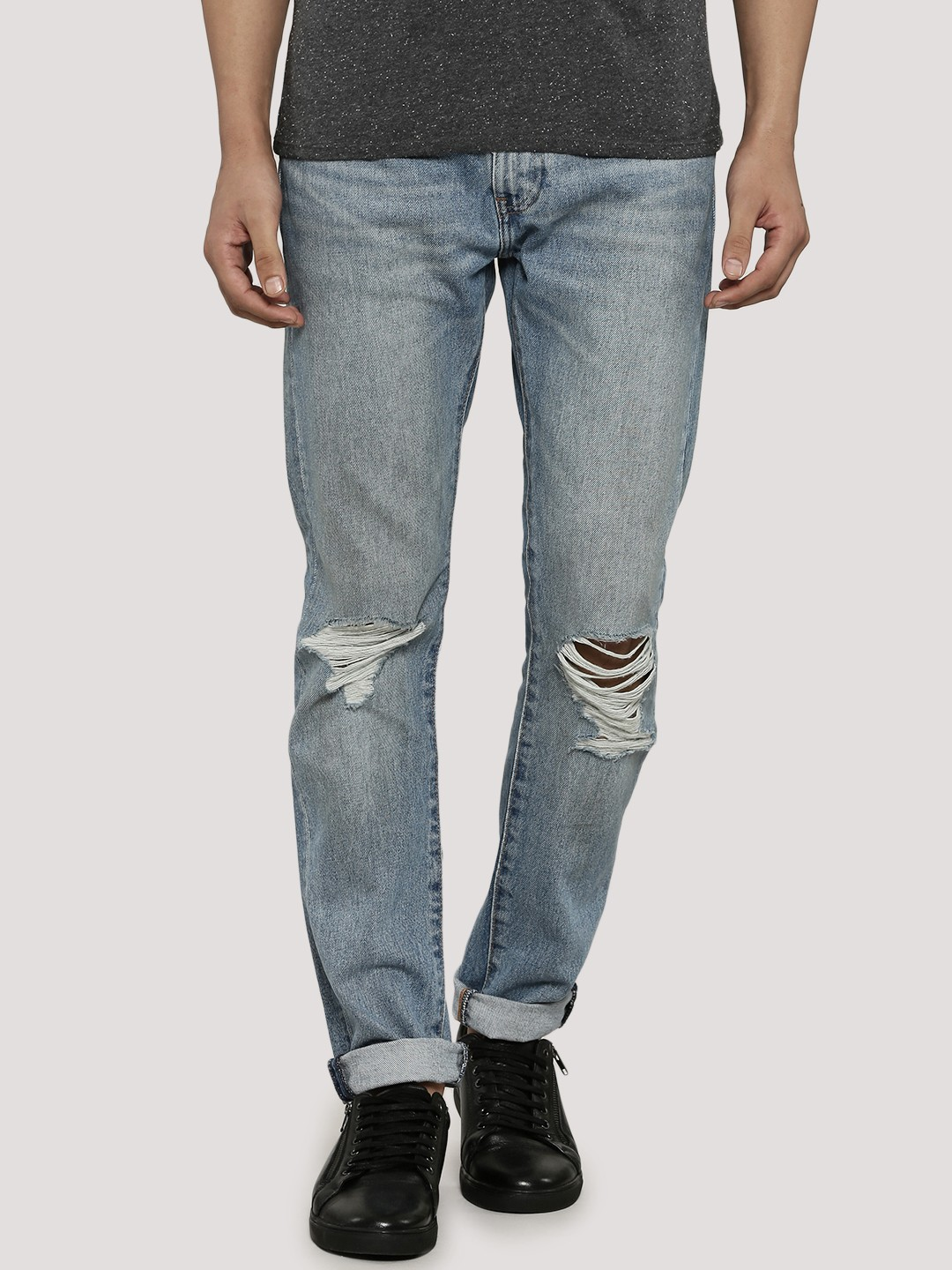 LEVI'S 505 Icon Slim Fit Knee Ripped Jeans - Buy LEVI'S 505 Icon Slim Fit Knee Ripped Jeans For Men - Men's
